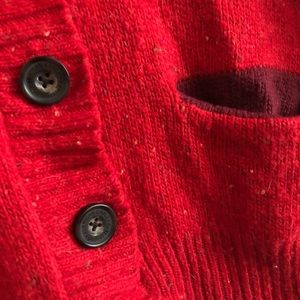 American Eagle red cardigan sweater